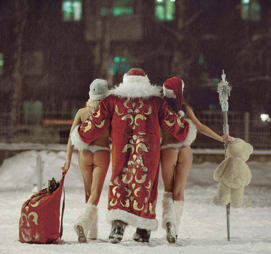 Funny picture  about santa vulgar