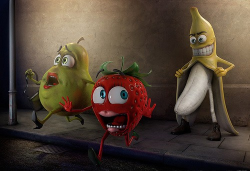 Funny picture  about banana