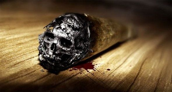 Funny picture  about smoking black