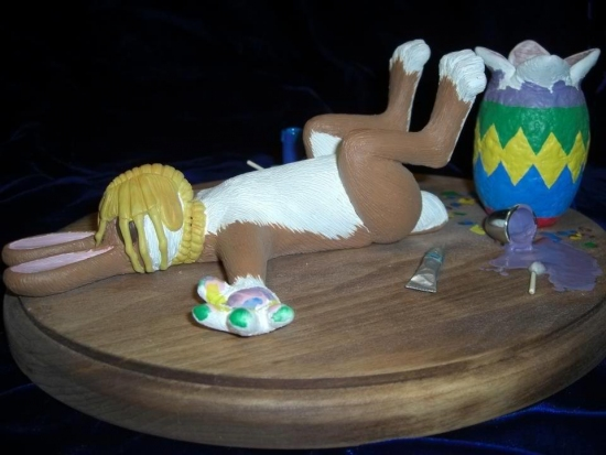 Funny picture  about easter, egg black