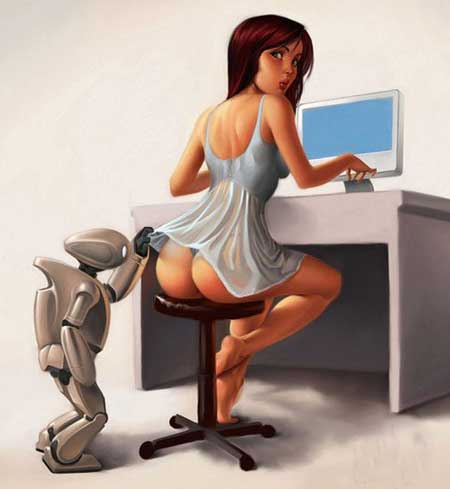 Funny picture  about robot vulgar