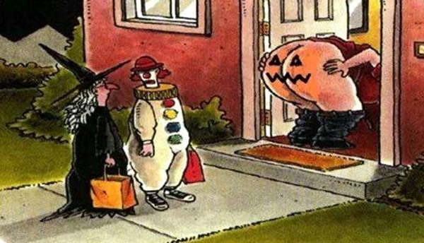 Funny picture  about halloween and ass