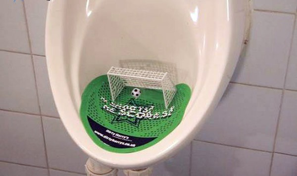 Funny picture  about urinal and soccer