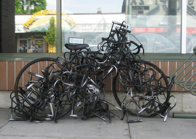 Funny picture  about bicycle