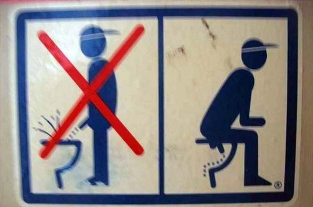 Funny picture  about urinal, toilet vulgar