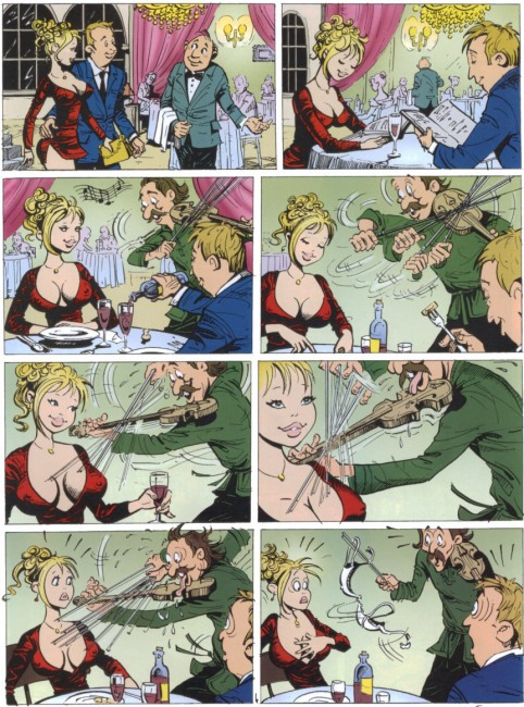 Funny picture  about comics, musician, bra vulgar