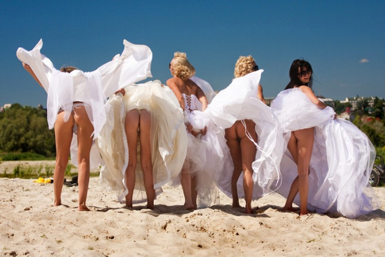 Funny picture  about ass, bride vulgar