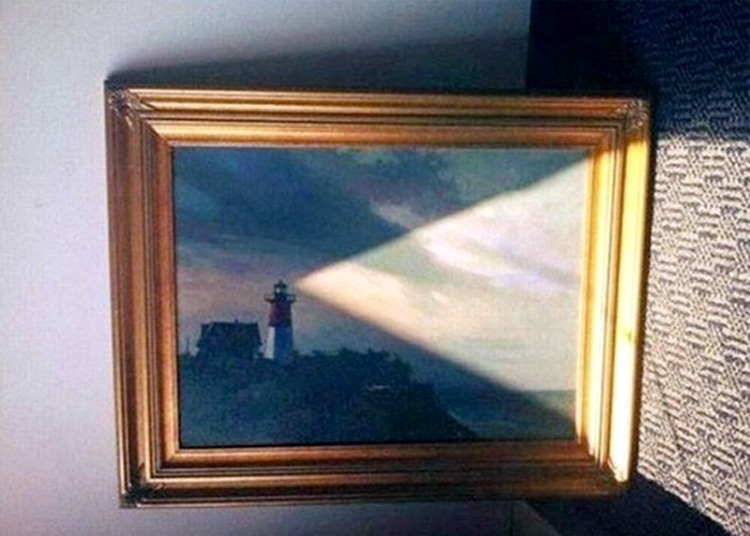 Funny picture  about picture and lighthouse